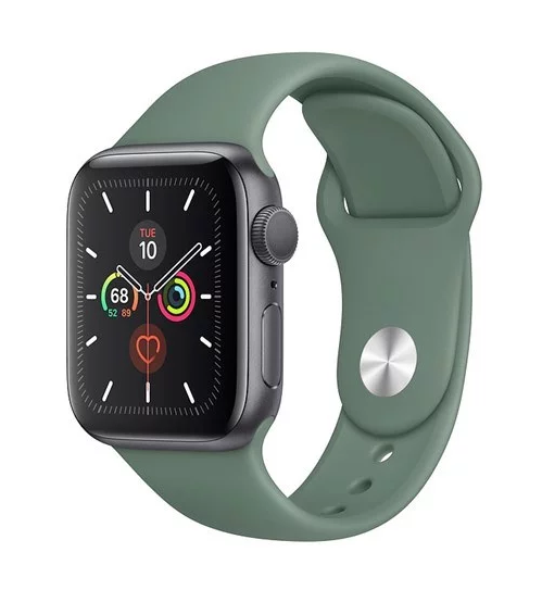 Apple Watch Series 5 40mm - Mặt đen dây xanh (Space Cray Aluminum)