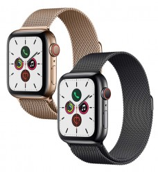Apple Watch Series 5 LTE 44mm đen viền thép dây thép