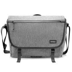 TÚI ĐEO VAI TOMTOC (USA) CASUAL MESSENGER MULTI-FUNCTION FOR ULTRABOOK 13″-13.5″ GRAY -A47-C01G