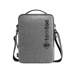 TÚI ĐEO CHÉO TOMTOC (USA) URBAN SHOULDER BAGS FOR ULTRABOOK 13″ GRAY – H14-C01G