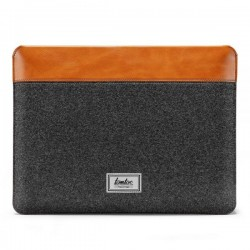 TÚI CHỐNG SỐC TOMTOC (USA) FELT & PU LEATHER FOR MACBOOK 16″ GRAY – H16-E01Y